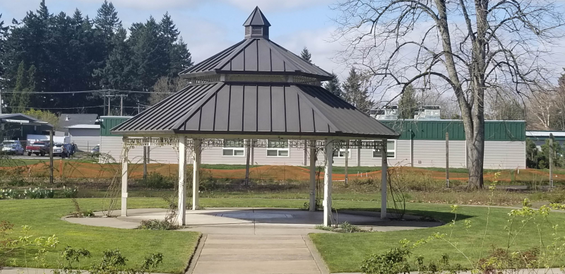 Gazebo built by Delta Rotarians at the Owens Rose Garden
